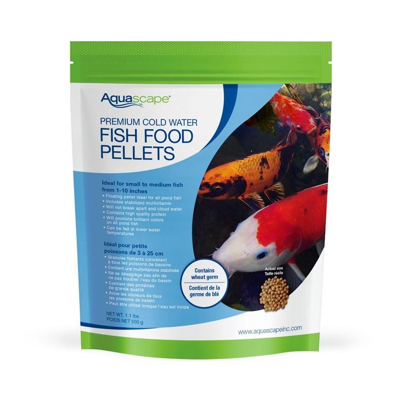 Premium Cold Water Fish Food Pellets 1.1 Lbs / 500